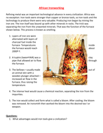 Ancient African Iron working worksheet