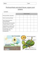 New AQA biology trilogy photosynthesis and plant transport notes booklet