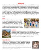 Buddhism handout