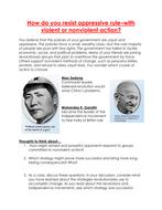How do you resits oppressive rule? worksheet