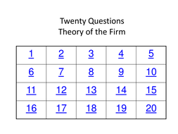Theory of the Firm 20 Short Answer Questions