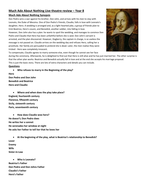 Much Ado About Nothing worksheet