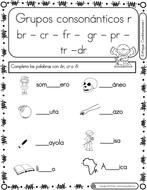 Spanish Phonics Book Set #19: Grupos consonanticos con r