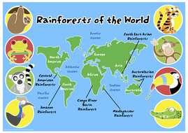 Rainforests of the world map pack by primaryclassroomresources pcr954 6 copiespdf gumiabroncs Choice Image