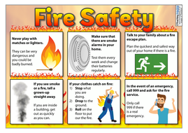 Fire Safety - Poster and Activity Template