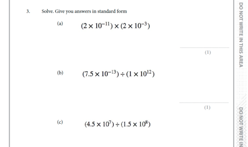 Gcse Standard Form Exam Paper By Theeducationspecialist Teaching
