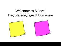 AQA A Level English Lit/Lang  Induction lesson