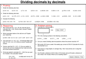 Dividing decimals - mastery worksheet by joybooth - Teaching ...