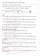 GCSE Energy: Work, Gravitational, Kinetic energy mixed questions
