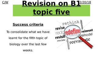 GCSE Edexcel 9-1 CB5 Combined Science HEALTH AND DISEASE TOPIC 5 revision