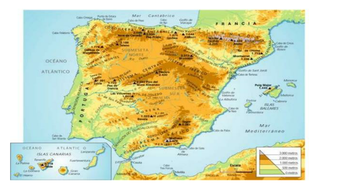 Map Of Spain Geography.Physical Geography Of Spain