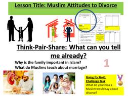 AQA  9-1 Divorce in Islam - Attitudes
