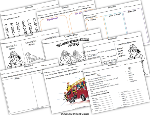 Fire safety Week booklet (Book/Flash cards/posters