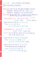 IB Maths SL - Topic 1 Algebra - Notes