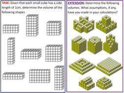 Volume of Cuboids by amurra8827 | Teaching Resources