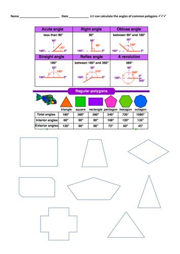 Angles: Identify, Measure, Classify