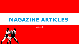 how to write a magazine article gcse