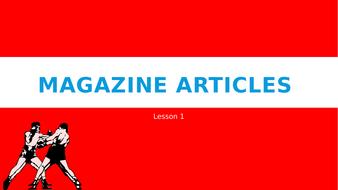 how to write a persuasive magazine article