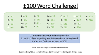 how much is 100 words