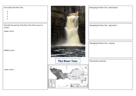 KS4 River Tees recording sheet