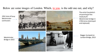 Two Londons: comparing Blake's and Worsdworth's views.  Ideal GCSE lesson