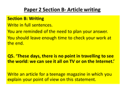 how to write a good article in english