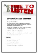 Active Listening Skills Activity