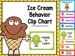 Ice cream behavior clip chart by kindergartencouture teaching