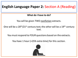 AQA English Language Paper 2 Guidance By Slinds