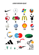 Logo quiz with answers + design activity