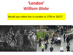 'London' by William Blake. Lesson with various resources.