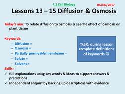 Lesson 13 - 15 Osmosis theory and Required prac 2 AQA Trilogy GCSE (9-1) 4.1 Cell Biology