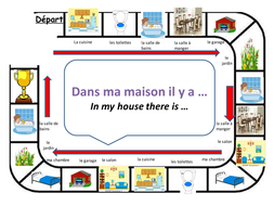 Rooms In The House French Dice Game By Lucyday73 Teaching