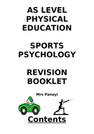 OCR A Level (new spec 2016) Sports Psychology revision