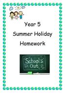 Holiday Homework Pack