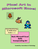 pixel art in microsoft excel by innovationsintechnology teaching