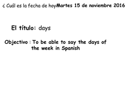 Days of the week Spanish KS2 by MagBB | Teaching Resources