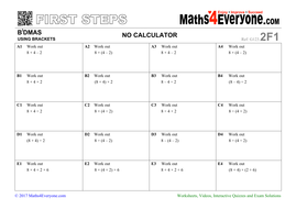BiDMAS (Worksheets with Solutions)