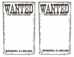 Notorious Numbers Wanted Posters PDFpdf