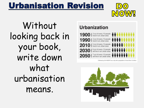 New AQA GCSE- Urban Issues and Challenges Lesson #8