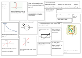 p2 electricity revision broad sheet