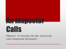 An Inspector Calls - Full Teaching PowerPoint