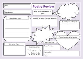 Ks1 2 poetry review blank template by newromantic for Poetry booklet template