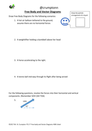 GCSE Physics - Free body diagrams and vector diagrams worksheet by ...
