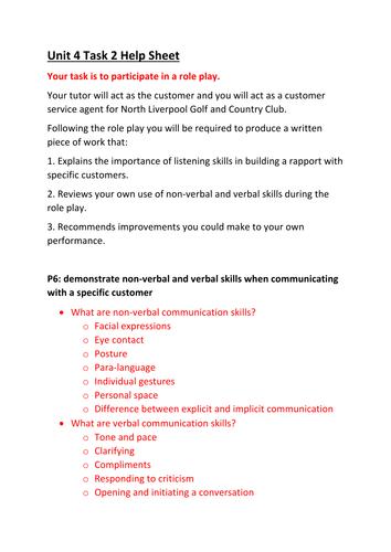 CTEC Business Studies 2016 Unit 4 LO3 Help Sheet