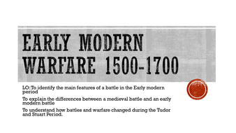 Early Modern Warfare