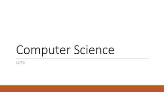 OCR GCSE Computer Science J276 - 4 Lessons