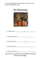 Year 1 and 2 Similes Activity/worksheet
