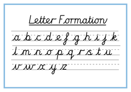 Cursive Letter Formation Word Mats | Teaching Resources