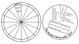 German Perfect Tense Verb Wheels by Vicky79 - Teaching Resources - Tes